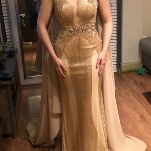 Custom Jovani couture pageant gown